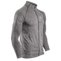 Seamless Zip Sweatshirt Grey Melange L