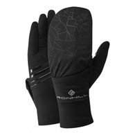Wind-Block Flip Glove All Black L